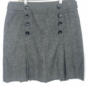 Sandro Sportswear Gray Pleated Tweed Skirt Size 10